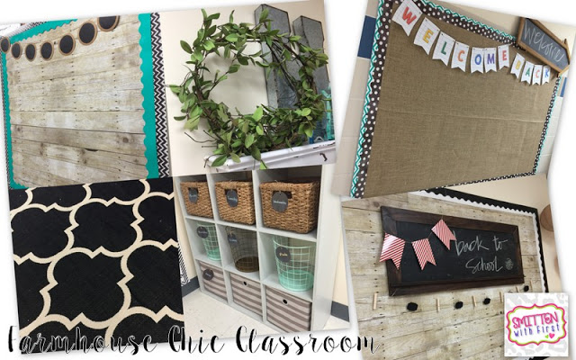 Farmhouse inspired classroom theme what is warm and inviting with beautiful calm and cool neutral colors!