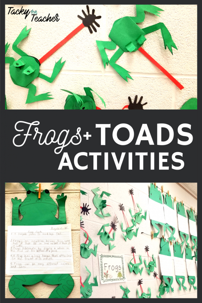 Frogs & Toads reading, science, and writing activities with {freebies}!