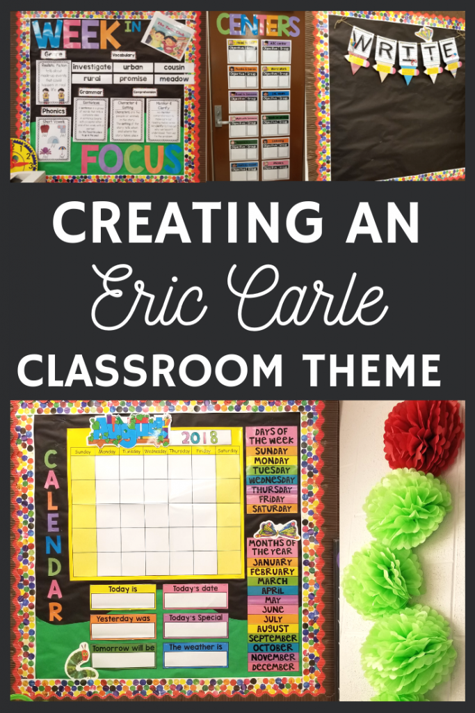 It was so much fun creating this bright and colorful Eric Carle inspired classroom theme!