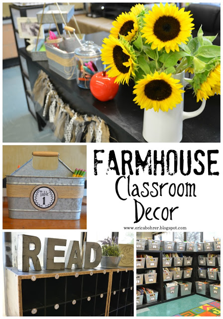 Love this stunning farmhouse classroom decor from Erica's Ed-ventures!