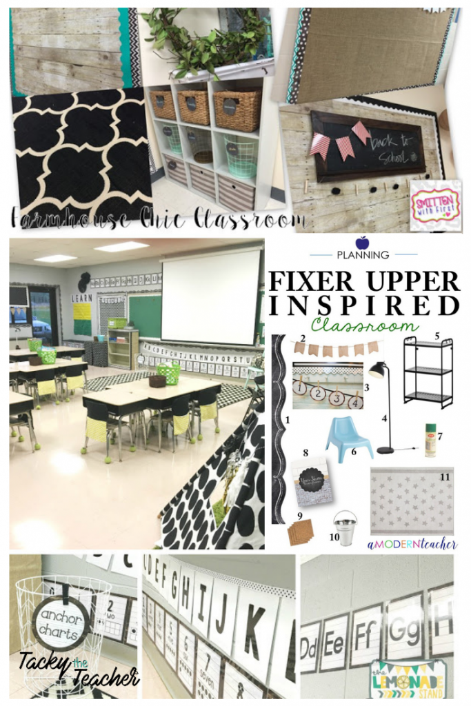 I love these farmhouse inspired classroom designs with neutral colors that make it feel so warm and inviting!