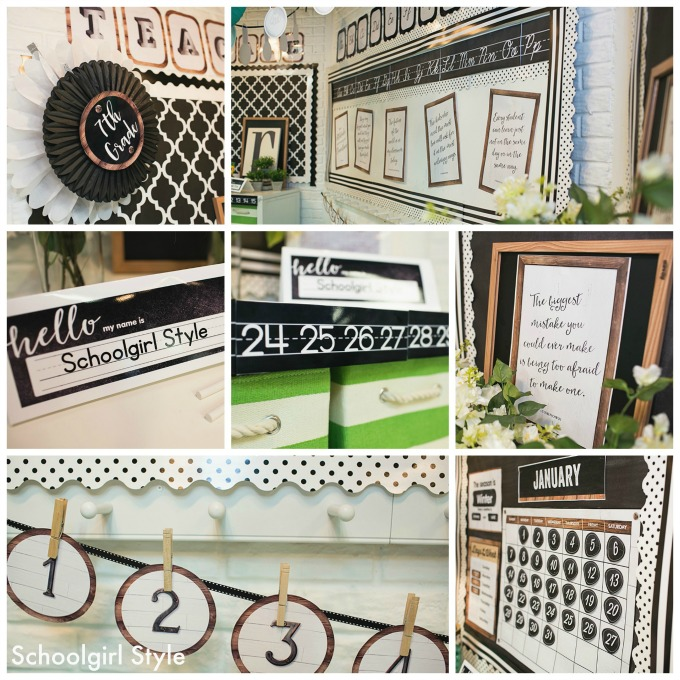 This Industrial Chic theme would work perfect for a farmhouse inspired classroom theme!