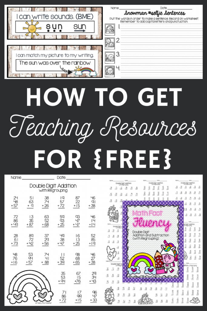 Are you a teacher that is interested in free teaching resources? Organization, classroom decor, math and literacy activities, find out how you can get access to ALL of that.