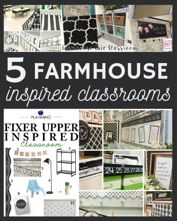 5 farmhouse inspired neutral classrooms with just the right pop of color to add a fixer upper flair to any classroom!