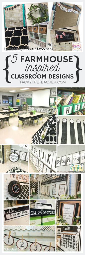 5 Farmhouse inspired classroom designs with lots of tips and ideas to create a warm and welcoming classroom environment with a little fixer upper flair!