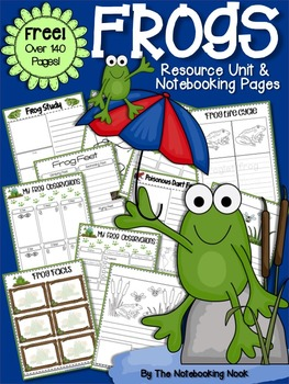 FREE Frogs Resource unit I used during my frog and toad activities this week!