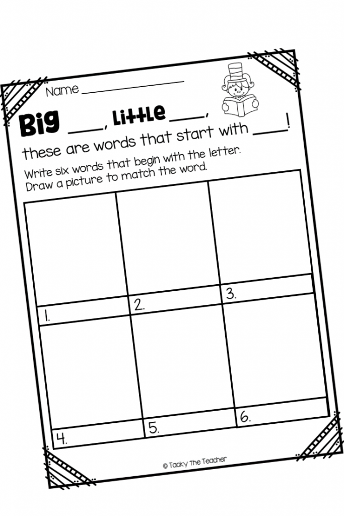 Beginning Sound Worksheet and 7+ Literacy Activities to go Along with Dr. Seuss's ABC book