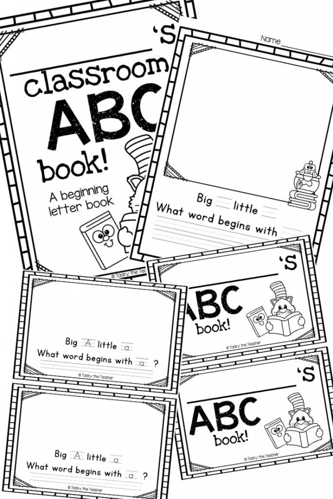 ABC Classroom Book and Student Book and 7+ Literacy Activities for Dr. Seuss's ABC book