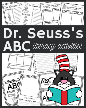 7+ Literacy Activities for Dr. Seuss's ABC Book to Use as a Whole Group, During Centers, Morning Work, or as Early Finishers