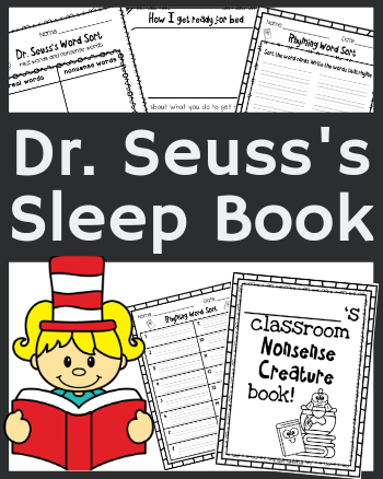 9 Silly Dr. Seuss's Sleep Book Activities