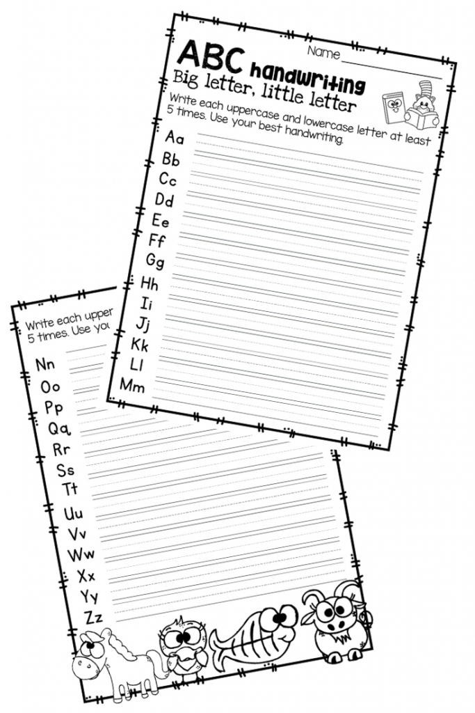 Handwriting Worksheets for Each Letter of the Alphabet and 7+ Literacy Activities for Dr. Seuss's ABC book