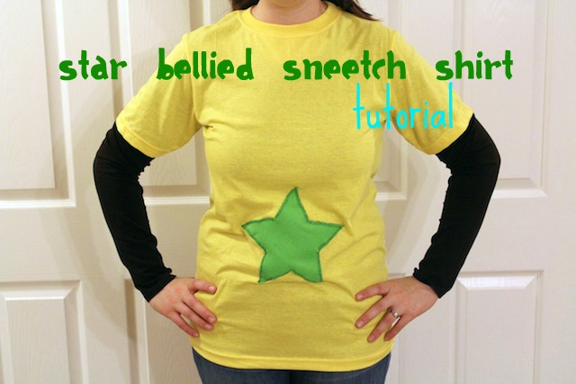Star Bellied Sneetches Shirt Tutorial from My Chocolate Moments blog for Dr. Seuss Star Bellied Sneetches Book