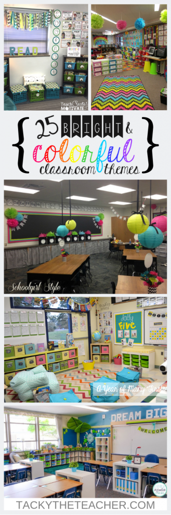 25 Bright and Color Classroom Themes that Will Inspire Your Decor