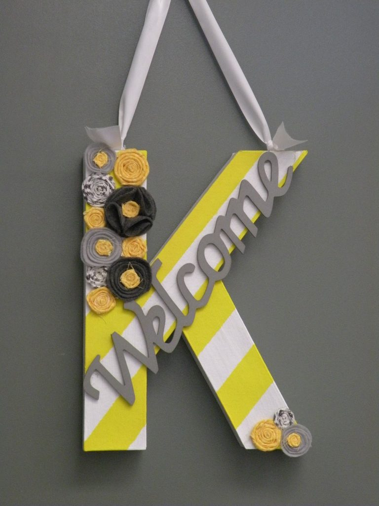 Bright Yellow and Grey Door Display