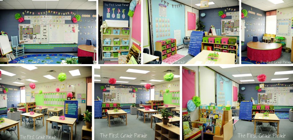 Neutral Colors with a Pop of Bright and Colorful Classroom