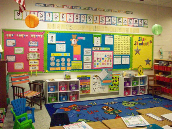 Bright and Colorful Bulletin Board Display