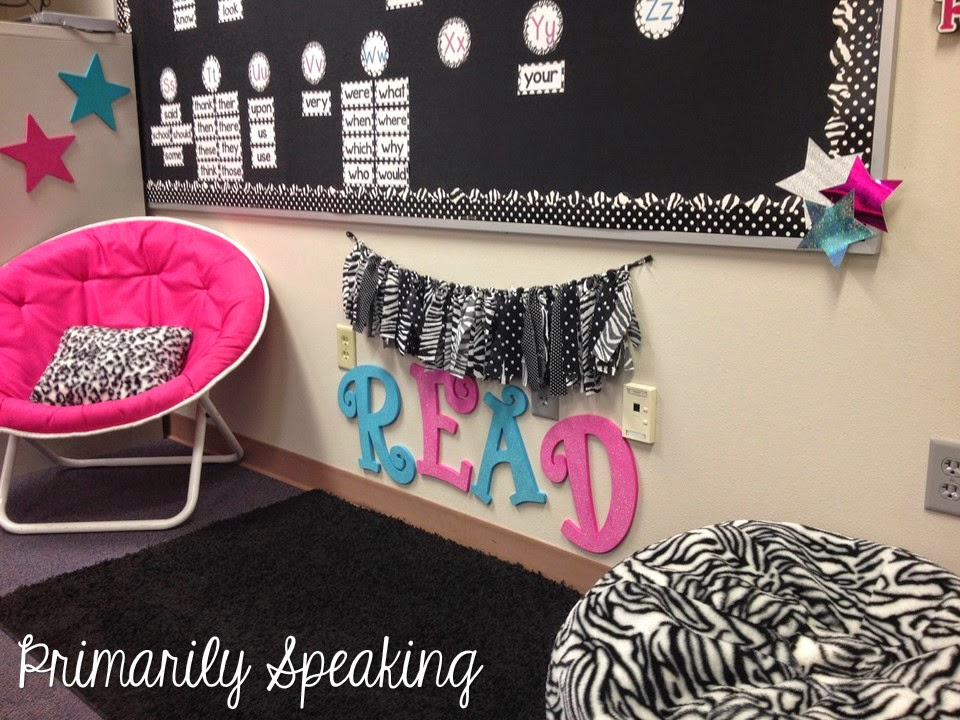 Zebra Print and Polka Dots Make a Wildly Bright Classroom