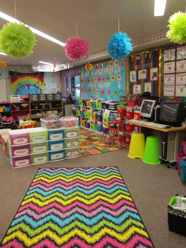 A Neon Bright and Black Chevron Classroom