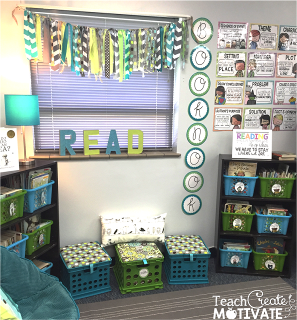 Blue and Green Classroom Decor