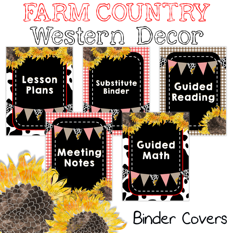 Farm Country Western Binder Covers for Any Farmhouse Inspired Decor