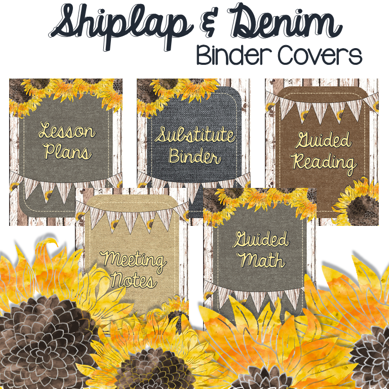 Shiplap & Denim Binder Covers for Any Farmhouse Inspired Decor