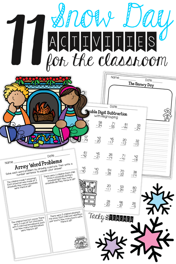 11 Snow Day Activities for the Elementary Classroom