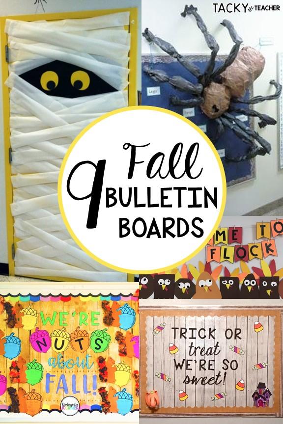 Fall classsroom decor ideas - fall bulletin board ideas for the classroom