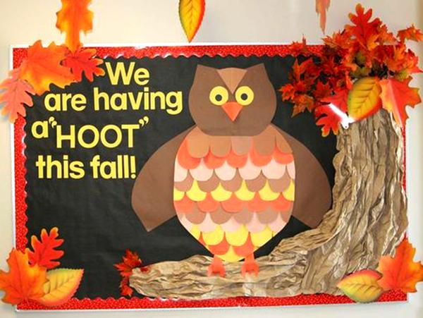 Owl theme - Fall Bulletin Board Ideas