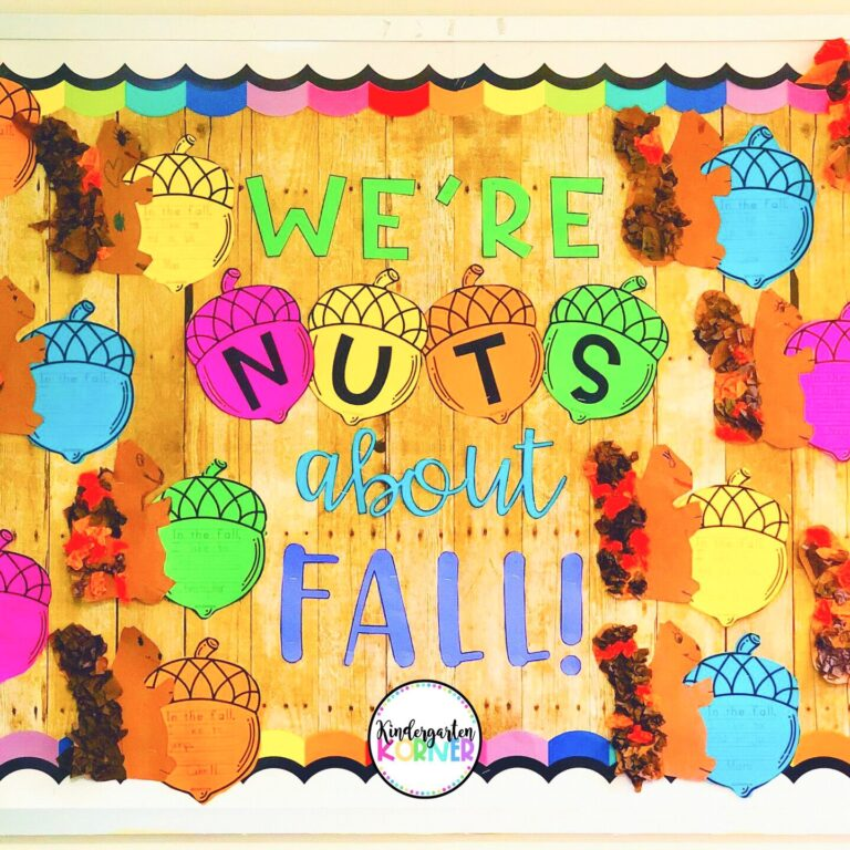 We're Nuts About Fall! Squirrel Bulletin Board