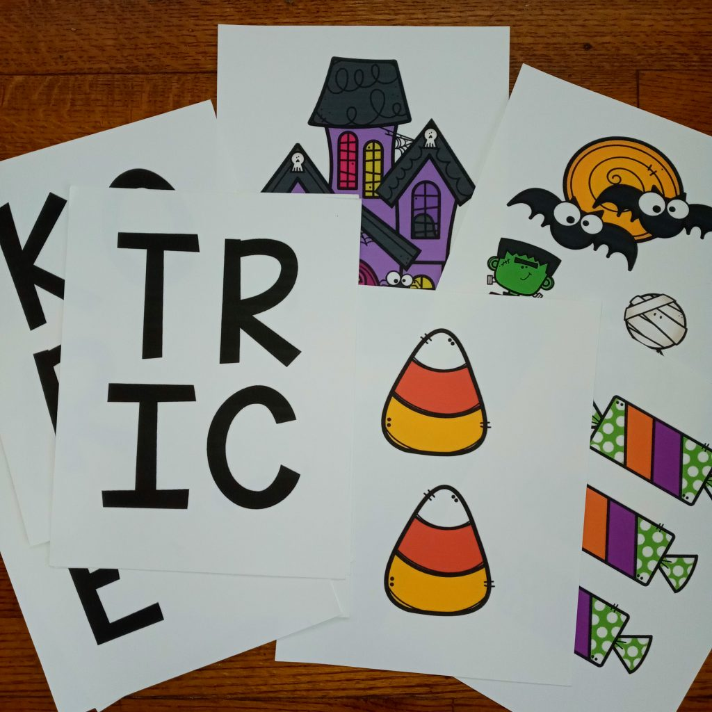 Trick or Treat Halloween Bulletin Board Pieces