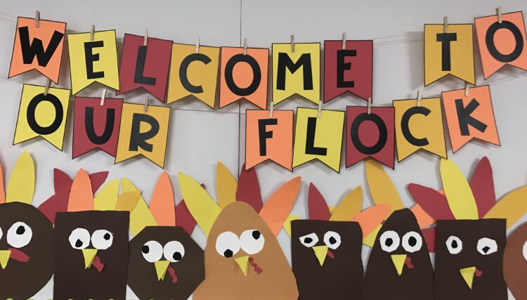 Welcome to Our Flock - Fall Bulletin Board Ideas