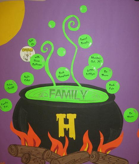 What's Brewing Witch Cauldron Bulletin Board