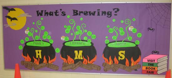 What's Brewing Halloween Bulletin Board Ideas