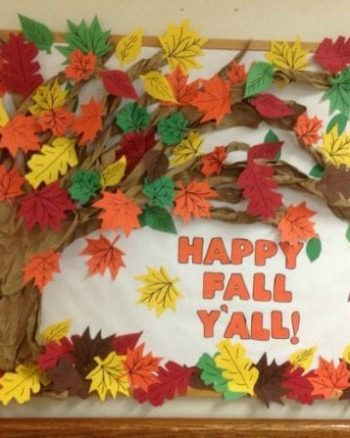 Happy Fall Y'all Bulletin Board for the Elementary Classroom