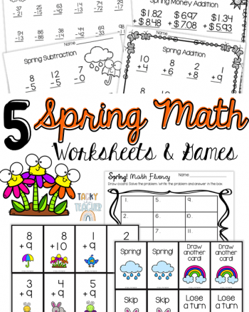 5 Spring Math Worksheets & Games