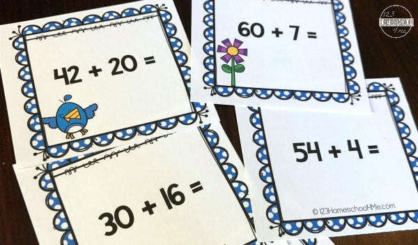 Spring Math Addition Game