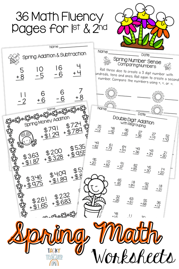 Math Fluency Practice Worksheets