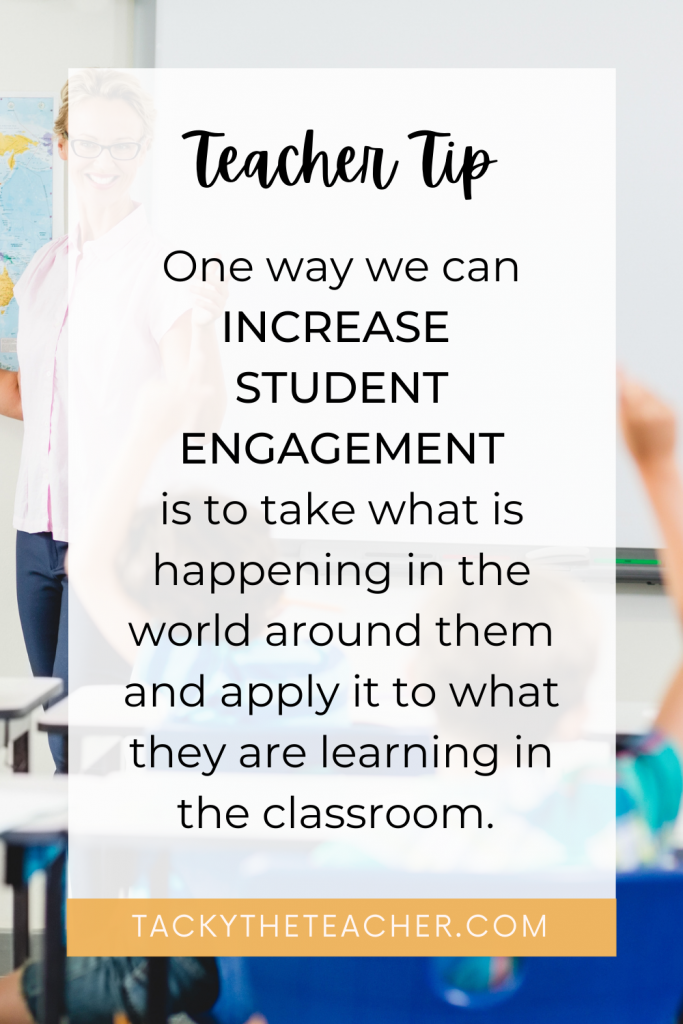 Increasing student engagement in the classroom by connecting them to their world around them