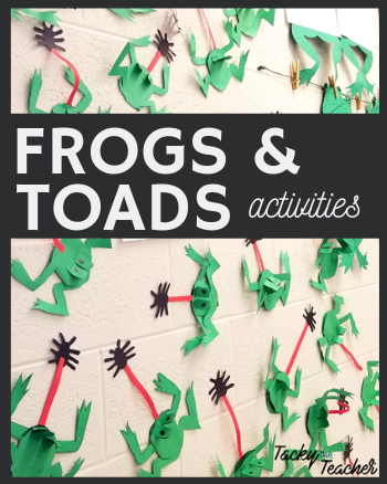 Frogs & Toads reading, science, and writing activities with a {freebie}!